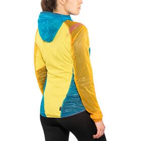 La Sportiva Briza Windbreaker hardloopjas Dames geel/blauw